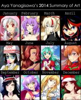 2014 Summary of Art by AyaYanagisawa
