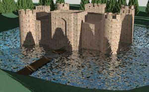 Castle Bodiam by CaptainBackSlash