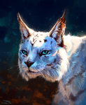 White lynx by AlaxendrA