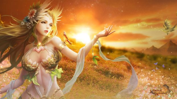 League of Angels - Sylvia 1366x768 by GTArcade