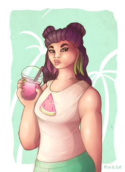 Watermelon by Pixe-ll-Cat