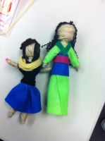 Role Model Dolls- Mulan and Friend by QueenoftheLemurs