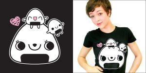 T-SHIRT: Onigiri Fun by Cute-Creations