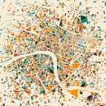 London Mosaic Map by MapMapMaps