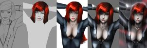 Black Widow step by step by evandromenezes