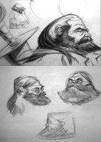dwarf heads by bolognafingers