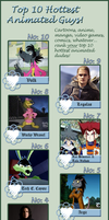 My Top 10 Hottest Animated Guys by OraTheRebelKitsune