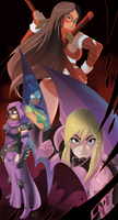 Maxima City Heroines by LadyDreamMaker