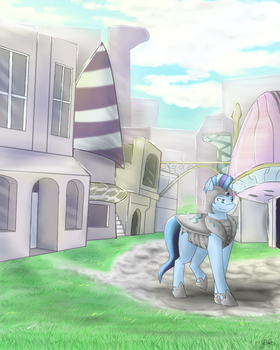 Early Morning Canterlot Stroll by ScarletsFeed