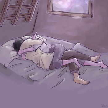 Who needs blankets ?? by SkyDrew