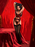 Asami Pin-up in Red by characterundefined