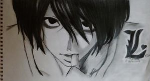 my lovely L from death note by sallymostufa