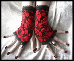 Opiate Lace Fingerless Gloves by ZenAndCoffee
