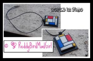 Mondrian Collection: Necklace by ReddyBirdMadGirl