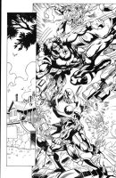 Wolverine Colossus pg1 inks by madman1
