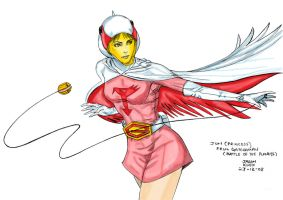 Jun of Gatchaman Color by Kimbawest