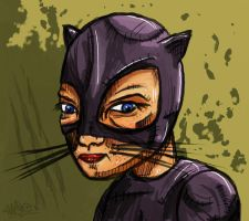 Catwoman Sketch by xHaStex
