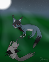 Laying under the moonshine by MidnightFox11