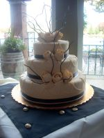 Ivory and Black Wedding Cake by Cupcake-Killer