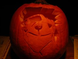 Kakashi Pumpkin by Leon-Kastello