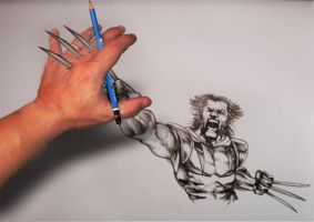 Wolvie coming to life by logan968