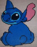 Stitch - Perler or Hama by Chrisbeeblack