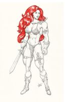 Red Sonja commission 19 by Xenomrph