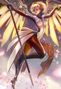 Mercy Fan art and see you at AX by jiuge