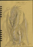 Gargoyle - conceptual drawing by Brollonks