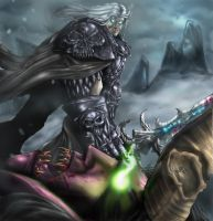 Arthas Slays Illidan by TheKanaMoose
