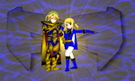 Lucy and Link for Andruril93 and LinkHelios234 by rangeranime