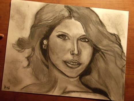 State of Grace Charcoal Portrait by RobotsLoveNutella