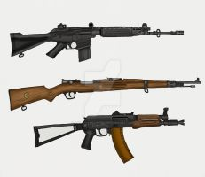 Assorted Military Rifles by stopsigndrawer81