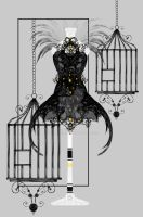 Blackbird gown by rockgem