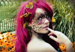 Poison ivy Steampunk mask by Scarlett-Quinn