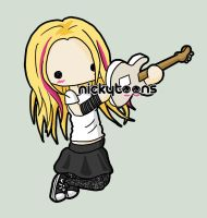 Avril Lavigne Day and Night by NickyToons