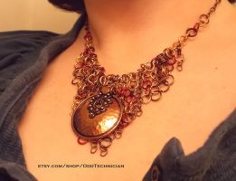 Copper Medallion Chainmail Necklace (3) by ulfchild