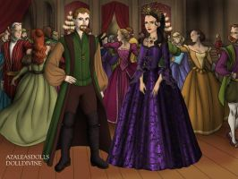 Queen Regina and Robin Hood by Childoftheflower