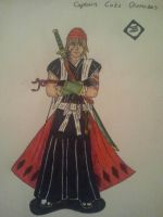 My Bleach OC: Captain Cato Diomodes (Coloured) by toasterroaster