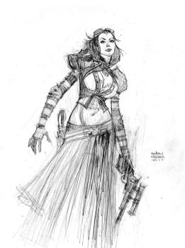 mechanika pencil commission by Andrew-Robinson
