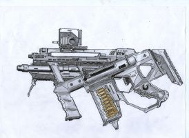 A 127 submachine gun by nab3945