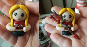 Buffy the Vampire Slayer Chibi Charm by ShadyDarkGirl