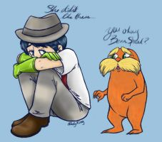 Sad Oncie and the Lorax by ALadyKing