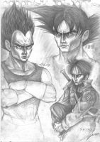 Kakarotto - Bejita - Trunks by cpn-blowfish