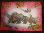 Dinobots Roll Out! by Jedi-Master-Autobot