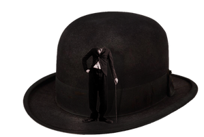 charlie chaplin cap anonymous by BADAOUI