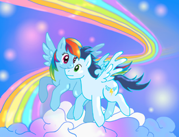 Rainbow Dash and Soarin by lotothetrickster