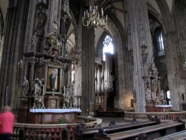 Stephansdom -nave and transept by kwizar