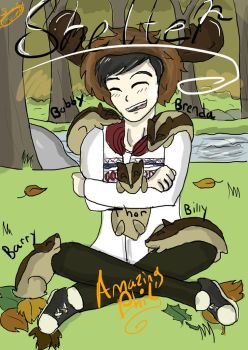 DanandPhilGames Amazingphil and his Badger Babies by kirkinglyenglish