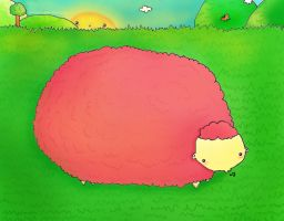 All I see is a fat pink Sheep. by GabiiRain